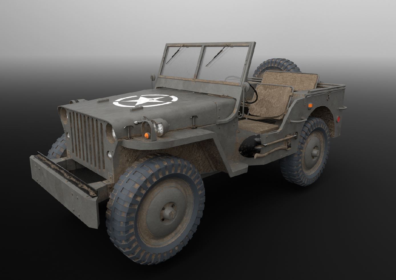 Willys-Jeep (Game-Asset)